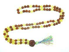 Yoga Gifts- Tarini Jewels Rudraksha Yellow Jade Prayer Beads Japa Mala Beads Necklace Mogul Interior http://www.amazon.com/dp/B00PIC3ZNO/ref=cm_sw_r_pi_dp_kWbzub08R8RNV