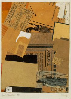 Kurt Schwitters is one of the Century's best known collage artist. Born in Hannover, he studied art in Dresden then began to make collage work around the age of It has been said that… Kurt Schwitters, Collage Kunst, Collage Artists, Robert Rauschenberg, Collages, Klimt, Die A, Carl Spitzweg, Art Studies