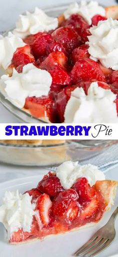 Fresh Strawberry Pie - an easy strawberry pie in a buttery flaky crust.
