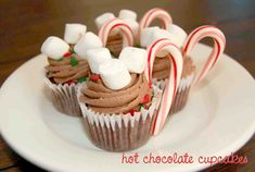 Hot Chocolate Cupcakes via frogprincepaperie.com
