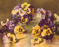 Cabbage Roses Bouquet Art Print Paul de by VictorianRosePrints