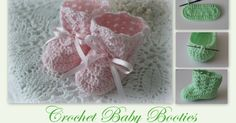 Lacy Crochet: Crochet Baby Booties Tutorial ♥️LBP-MRS♥️with step by step picture instructions. Crochet Baby Booties Tutorial, Crochet Baby Boots, Booties Crochet, Crochet Clothes, Tutorial Crochet, Crochet Tutorials, Baby Shoes Pattern, Baby Patterns, Crochet For Kids