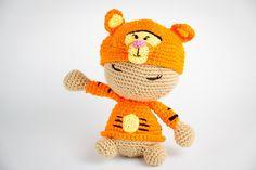 Free Tigger Amigurumi Pattern : Dormilón disfrazado de tigger imu amigurumi ☆ crochet dolls
