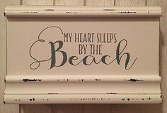 Sixtrees My Heart Sleeps By The Beach Wooden Sign | eBay Ebay Sale, Beach Themes, Wooden Signs, My Heart, Sleep, Positivity, Big, Wooden Plaques, Wood Signs
