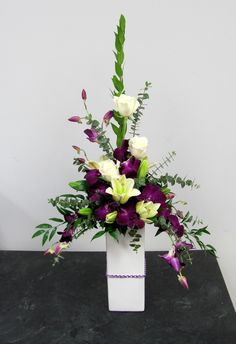 Modern Floral Arrangements - Unique Modern Floral Arrangements, Modern Yellow Arrangements Remember Those Black Vases I Showed Altar Flowers, Church Flower Arrangements, Church Flowers, Beautiful Flower Arrangements, Silk Flower Arrangements, Funeral Flowers, Flower Centerpieces, Flower Decorations, Flowers Garden