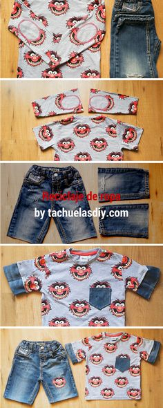 New diy ropa reciclada invierno 40 ideas Fashion Fabric, Diy Fashion, Womens Fashion, Fashion Design, Sewing Kids Clothes, Sewing For Kids, Boy Outfits, Winter Outfits, Winter Clothes