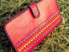 Batwa Purse Making : ... with this vibrant, hand-made leather Transit Batwa (passport wallet