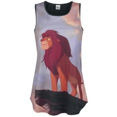 Only at EMP can you get your hands on this women's top: The King - Simba from The Lion King. On the front there's a print of Simba looking out from Pride Rock. Thanks to sublimation printing technology, the top's colours won't easily wash out. Dress up and feel like a king.