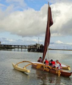 bamboo lodge & a Outrigger Sailing Canoes