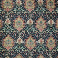Black color Medallion and Scroll and Southwest and Floral pattern Linen and Prints type Upholstery Fabric called Mardi Gras by KOVI Fabrics Textile Patterns, Textile Prints, Textile Design, Linen Upholstery Fabric, Greenhouse Fabrics, Paisley Art, Paper Napkins For Decoupage, Hospitality Design, Wicker Furniture