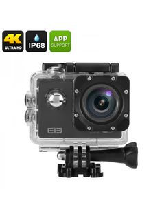 Elephone ELE Explorer Ultra HD WiFi Action Camera with recording, 170 degree FOV, and Wi-Fi is an affordable way to record all your adventures Wi Fi, Latest Camera, The Black Keys, Cmos Sensor, Wide Angle Lens, Electronics Gadgets, Fujifilm Instax Mini, Action, Explore