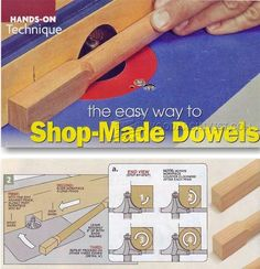 Making Dowels on Router Table - Joinery Tips, Jigs and Techniques | WoodArchivist.com
