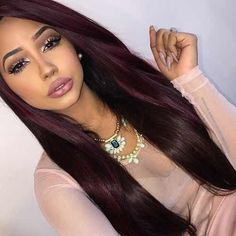 Burgundy Brazilian Hair 3 Bundle Deals 7A Unprocessed Dark Burgundy Weave 10-26 Brazilian Straight Beauty Forever Hair Style