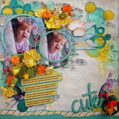 """ Cute "" layout by Carol Deal"