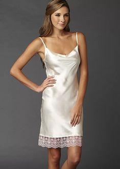 Camille Silk nightgown, silk chemise