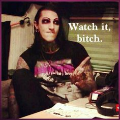 Chris Motionless, Motionless In White!!! He's so funny!