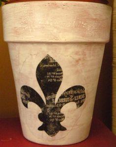 French Country Pots..fleur de lis! My fav!