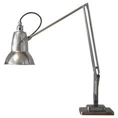 """Anglepoise"" Lamp by George Carwardine, England, 1934 Industrial Lighting, Vintage Lighting, Desk Lamp, Table Lamp, Anglepoise Lamp, England, Lights, Boys, Inspiration"
