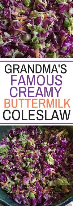 Grandma's Famous Creamy Coleslaw - the perfect side dish for dinner - so darn good!!