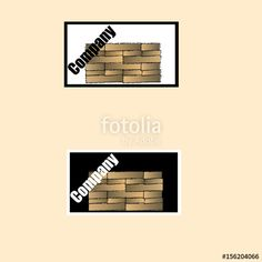 "Download the royalty-free vector ""Logo of a construction company with bricks"" designed by elenanes at the lowest price on Fotolia.com. Browse our cheap image bank online to find the perfect stock vector for your marketing projects!"