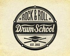 Drum School logo | #logo #corporatedesign #corporate-identity #identity #corporate #inspiration <<< repinned by www.BlickeDeeler.de | Follow us on #Facebook > www.facebook.com/BlickeDeeler.de