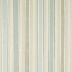 Awning Stripe Cotton/Linen Fabric Duck Egg (poss kitchen blind material)