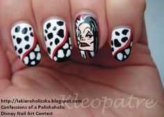 Confessions of a Polishaholic: ★☆★ Disney - Nail Art Contest - Entries ☆★☆ Cruella Nails