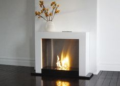 Minimalist fireplace.