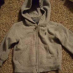 Baby Boy Jacket Grey hoodie Ralph Lauren Jackets & Coats