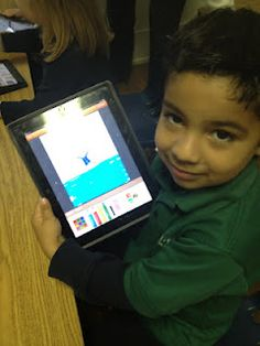 Student #6 using our app in the classroom