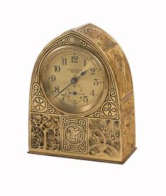 Clocks - Tiffany Studios Bookmark Clock - Ophir Gallery