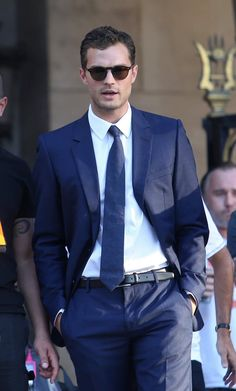 Jamie Dornan on the set of Fifty Shades Freed in France.