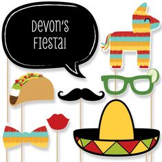20 pc. Fiesta Mexicana Photo Booth Props por BigDotOfHappiness