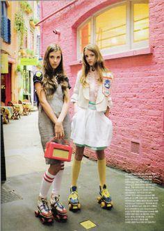 Roller skate fashion, i want those roller skates!