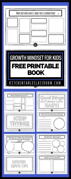 Growth Mindset for Kids Printable Book- Growth Mindset Activities The growth mindset is one of the most encouraging perspective changes out there! Check out this free printable book about growth mindset for kids! Growth Mindset Display, Growth Mindset For Kids, Growth Mindset Activities, Growth Mindset Posters, Growth Mindset Lessons, Growth Mindset Classroom, Social Emotional Learning, Social Skills, Social Work