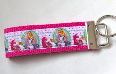 Alice In Wonderland Inspired Keychain Key Fob by RedShirtCreations