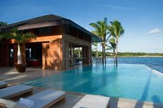Cool Pools, Beach House, Swimming Pools, Villa, Exterior, House Design, Vacation, Mansions, Luxury