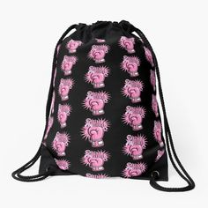 """""""Fight Like A Girl Breast Cancer Awareness"""" Drawstring Bag by HavenDesign   Redbubble Drawstring Bags, Girls Be Like, Breast Cancer Awareness, Color Patterns, Tote Bag, Stylish, Stuff To Buy, Colour Pattern, Totes"""