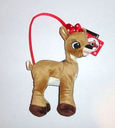 New Rudolph Red Nosed Reindeer Clarice Plush Purse.  Soft velour fabric with satin handle! #christmas #gifts #purses