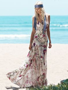 Free People Sateen Twill Gown