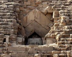 Khufu Pyramid Entrance, Egypt