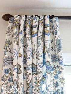 DIY Curtains : DIY Hook and Ring Curtain Panels