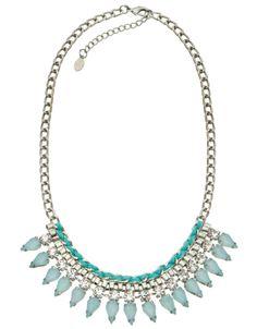 Maya Pretty Teardrop Statement Necklace | Blue | Accessorize