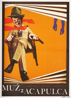 50% Movie Posters Sale £68.00 - £34.00 / The Man from Acapulco, Petr Vápeník, 1975. Made in Czechoslovakia.