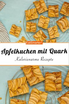 Kalorienarmer Apfelkuchen mit Quark Low calorie apple pie with curd cheese - smarter - calories: 225 Healthy Sweet Snacks, Healthy Eating Recipes, Easy Snacks, Keto Snacks, Easy Meals, Eat Healthy, Clean Eating Breakfast, Clean Eating Snacks, Calories Apple