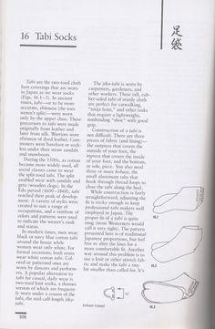Tabi Socks:  Instructions and Pattern