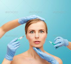 woman face and beautician hands with syringe ...  adult, aesthetic, anesthetic, anti-aging, background, beautician, beautiful, beauty, calm, care, clinic, collagen, correction, cosmetic, cosmetology, doctor, drawing, face, facial, female, frightened, gloves, hands, health, healthcare, injection, lifting, looking, medicine, needle, operation, patient, people, person, plastic, procedure, scared, serious, skin, smooth, soft, surgeon, surgery, syringe, treatment, turquoise, woman, wrinkles…