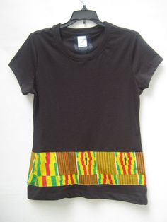TShirt Striped T shirt African Print  Striped T shirt by Shipella, $24.99