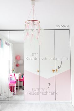 Kinderzimmer Ideen Mädchen DIY Pax Ikeahack Ikea