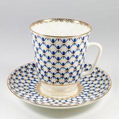Russian Pushkin Fairytale Teacup /& Saucer Imperial Lomonosov Porcelain Authenitc